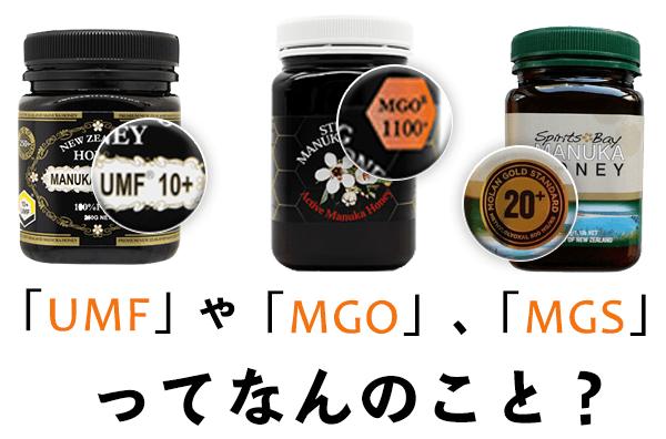 UMF、MGS、MGOとは?